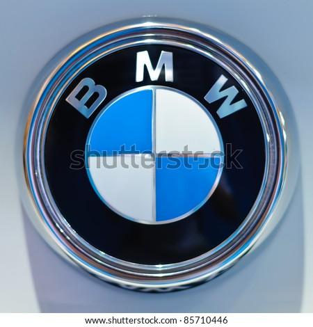 BANGKOK - SEPTEMBER 25: a logo of BMW on display at BMW XPO 2011 on September 25, 2011 at Siam Paragon in Bangkok. - stock photo