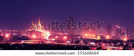 Bangkok skyline. - stock photo