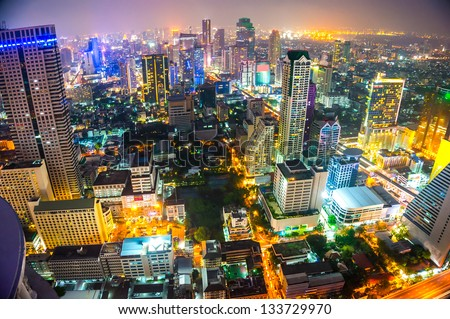Bangkok skyline, Thailand. - stock photo