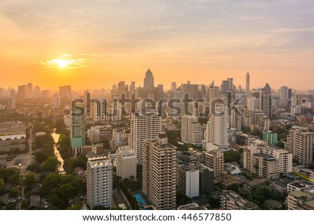 Bangkok/Thailand - April 2016 - Bangkok's viewpoint, it is the capital of Thailand this image is taken on 2 April 2016