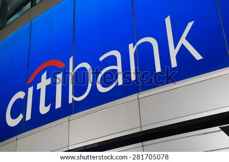 BANGKOK THAILAND - APRIL 20, 2015:  Citibank. Citibank is the consumer banking division of financial services multinational Citigroup founded in 1812.