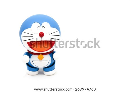Doraemon cartoon stock images royalty free images vectors bangkokthailand april 9 2015 figure of doraemon animation is standing on voltagebd