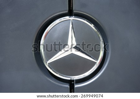 BANGKOK, THAILAND - APRIL 01 , 2015: Logo of Mercedes-Benz 2015 on APRIL 01 2015 inBangkok Thailand.