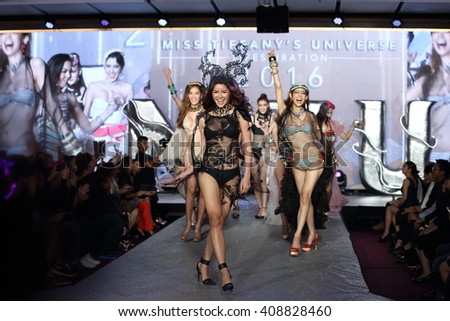 Bangkok, Thailand - 20 April 2016, Miss Tiffany's Universe 2016, Swimwear round for Trans Gender Girl, the Most Famous Contest for Lady-Boy