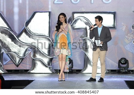 Bangkok, Thailand - April 20, 2016 : Miss Treechada (Poyd) Petcharat, Miss Tiffany's 2004 and Miss International Queen 2004 on Miss Tiffany's Universe 2016, Swimsuit
