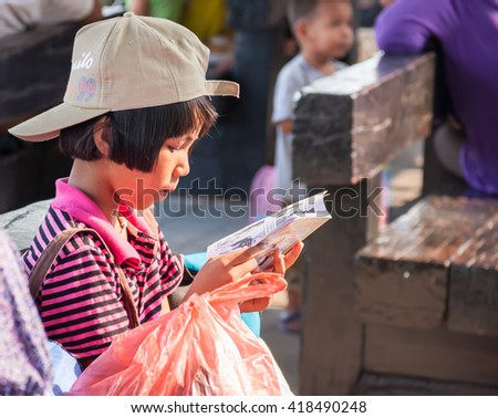 Bangkok, Thailand- April 1, 2012 : Passenger waiting for a train. Thailand still have  old train system and old logistics system, while high speed train in another AEC country are under construction.