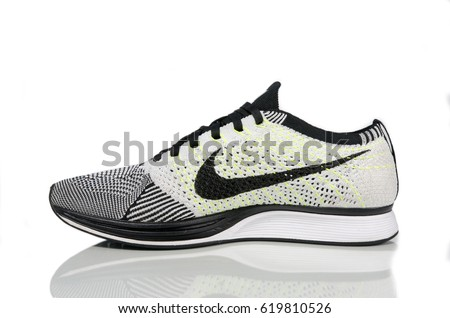BANGKOK, THAILAND - April 12,2017: Photo of Nike Fly knit Racer -