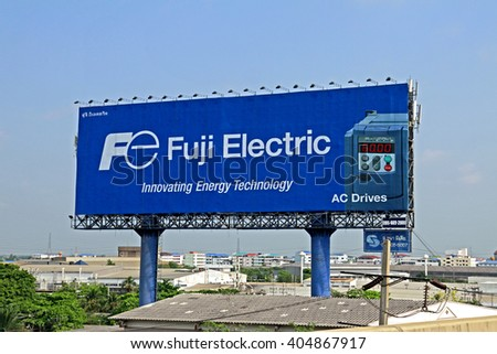 BANGKOK-THAILAND-APRIL 20 : The billboard in the city on April 20, 2015 Bangkok, Thailand