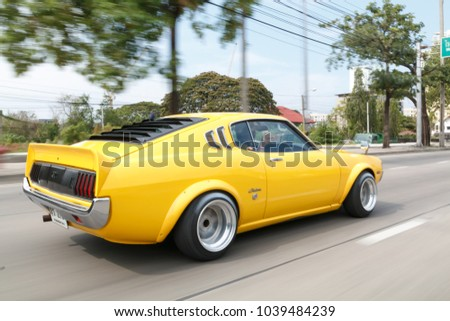 BANGKOK, THAILAND   April 02, 2017, TOYOTA CELICA Classic Sport Car On The