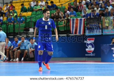 BANGKOK THAILAND-AUG 20:Jetsada Chudech of Thailand pose during THAILAND 5s 2016 Match Thailand and Kazakhstan at Bangkok Arena Stadium on August 20,2016