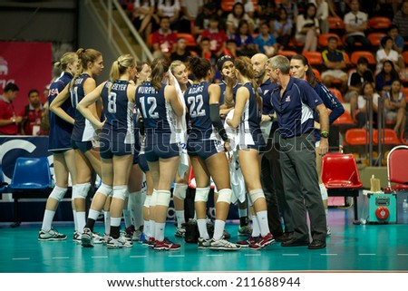 bangkokthailand august15coach kiraly karch rof usa speaks with