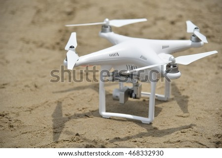 BANGKOK, Thailand - August 14, 2016: Drone quadcopter Dji Phantom 3 Professional with digital camera High quality 4K. New tool for aerial photo and video.