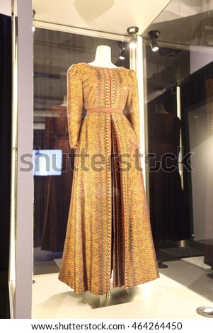 "Bangkok, Thailand - August 5, 2016 : Fashion Show ""The Glorious Beauty of Textiles, Her Majesty the Queen's 84th Birthday Celebrationâ?� to present Thai Silk from Thai Famous Designers"