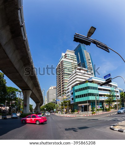 BANGKOK, THAILAND - December 14, 2014: cityscape City tour of Bangkok and its surroundings