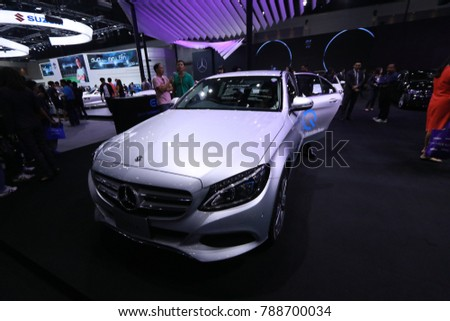 BANGKOK-THAILAND-DECEMBER 11 : Exhibition of automotive innovations Motor show 2017, December 11, 2017 , Bangkok, Thailand