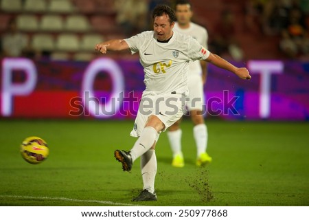 BANGKOK, THAILAND - DECEMBER 05: Robbie Fowler  of team Figo in action during the Global Legends Series match, at the SCG Stadium on December 5, 2014 in Bangkok, Thailand.