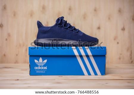 BANGKOK, THAILAND - December 1st ,2017: Adidas Originals Tubular Shadow  Knit sneakers -