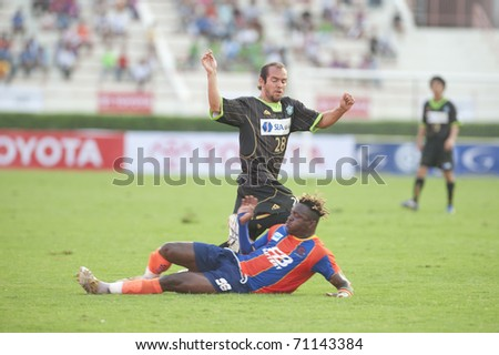 BANGKOK, THAILAND - FEB 13: Unidentified players in Toyota Fremeir Cup between Thai Port Fc vs  Shonan Bellmare on February 13, 2010 in Supachalasai National Stadium Bangkok, Thailand