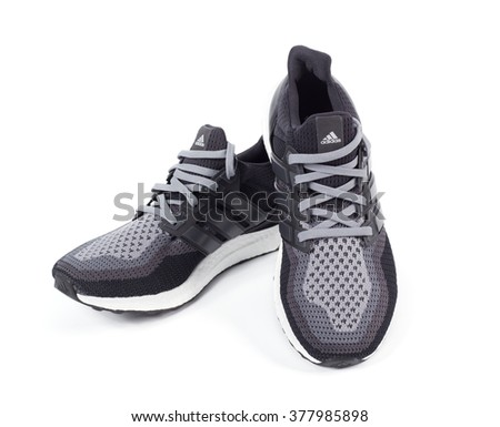 BANGKOK, THAILAND - February 17,2016: Adidas ultra boost sports shoes for running - illustrative editorial
