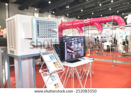 BANGKOK ,THAILAND - FEBRUARY 7: Air duct  at THAILAND Industrial Fair  2015 And Food Pack Asia 2015 on February 7, 2015 in Bangkok,  Thailand.