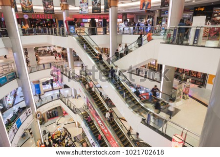 BANGKOK, THAILAND - FEBRUARY 10, 2018: Interior view of Central Rama II, Famous shopping center in thailand.