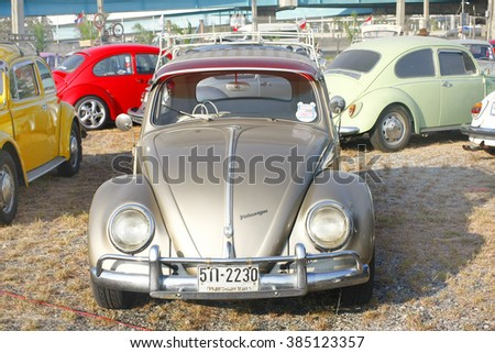 "BANGKOK, THAILAND - February 13 : SIAM VW FESTIVAL ""VW LOVE FAMILY"" at Wonder world fun park on February 13,2016 in Bangkok, Thailand."
