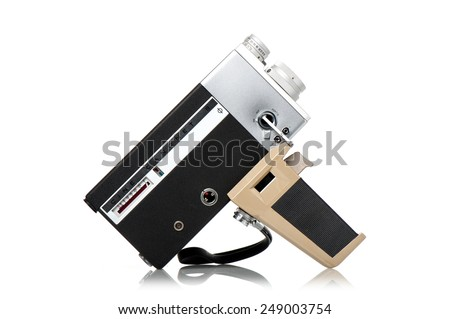 BANGKOK, THAILAND - FEBRUARY 02, 2015: The CINE CANONET 8, 8mm movie camera from Canon. - stock photo