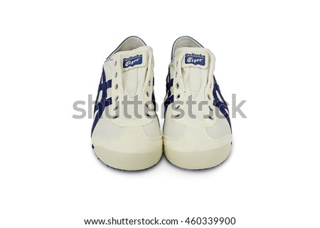 BANGKOK, THAILAND - JUL 10: Onitsuka Tiger MEXICO 66 PARATY TH342N-0250 isolated on white background, product shot on July 10, 2016 in Bangkok, Thailand - stock photo