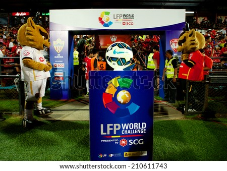 BANGKOK THAILAND-Jul 30:View of scg stadium before match the LFP World Challenge 2014 between Muangthong UTD. and UD Almeria at SCG Stadium on July30,2014,Thailand