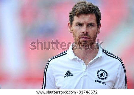 BANGKOK, THAILAND - JULY 24: A.Villas-Boas of Chelsea during the pre-season friendly match between the Thailand All Stars and Chelsea at Rajamangala Stadium on July 24, 2011 in Bangkok, Thailand. - stock photo