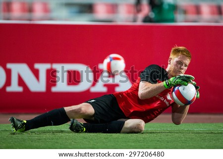 BANGKOK THAILAND JULY 14:Goalkeeper Adam Bogdan of Liverpool in action during the international friendly match Thai All Stars and Liverpool FC at Rajamangala Stadium on July14,2015 in,Thailand. - stock photo