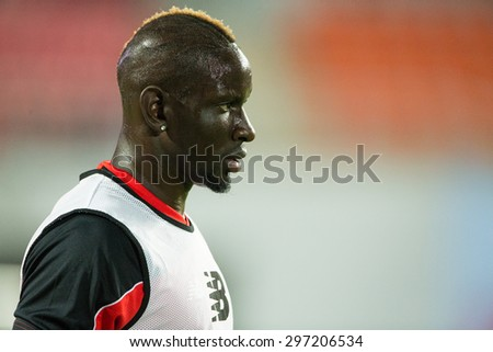 BANGKOK THAILAND JULY 14:Mamadou Sakho of Liverpool in action during the international friendly match Thai All Stars and Liverpool FC at Rajamangala Stadium on July14,2015 in,Thailand. - stock photo