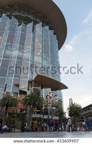 Bangkok,Thailand, - 17 July  2016 :  People visit at Siam Paragon it is a shopping mall in Bangkok, Thailand which one of the biggest shopping centres in Asia