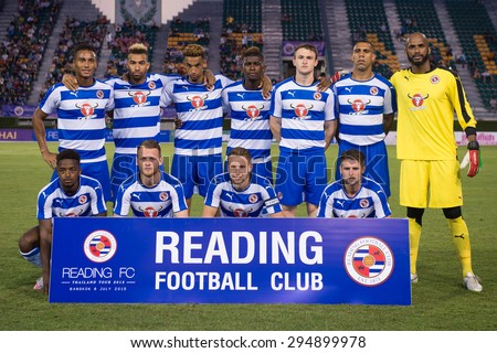 BANGKOK,THAILAND-July8:Players  of Reading FC shot photo during The Reading FC Thailand Tour 2015 Thailand All Stars and Reading FC at National Stadium on July 8, 2015,Thailand. - stock photo