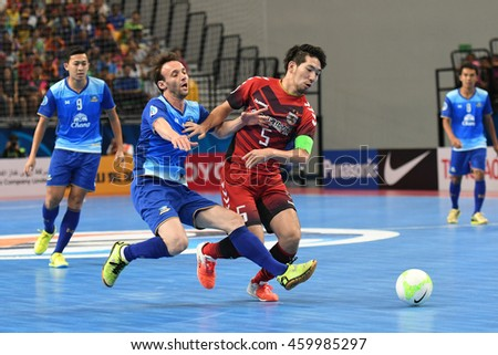 BANGKOK THAILAND-JULY15:RUDIMAR VENANCIO of Chonburi Bluewave in action during AFC FUTSAL CLUB CHAMPIONSHIP 2016 Match Chonburi Bluewave and Nagoya Oceans at Bangkok Arena Stadium on July15,2016