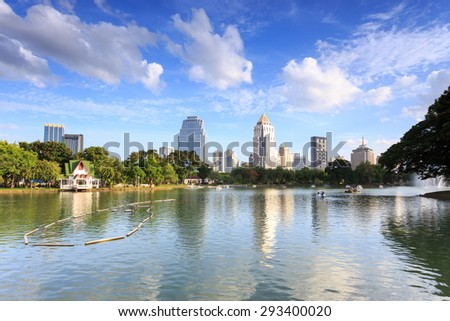 Bangkok, Thailand -?? July 5, 2015: Skyscraper and Cityscape in Bangkok; many modern condominiums and business building on Sathorn and Silom road which presents Thailand�¢??s economic growth gradually.