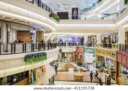 bANGKOK, THAILAND - July 12 2016: the promenade Shopping and Entertainment Centre is one of the largest shopping mall in the Bangkok - stock photo