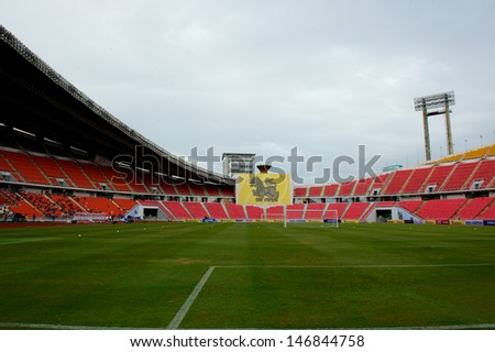 BANGKOK,THAILAND-JULY 16:View of Rajamangala Stadium during a Chelsea FC training session at Rajamangala Stadium on July 16, 2013 in Bangkok, Thailand.