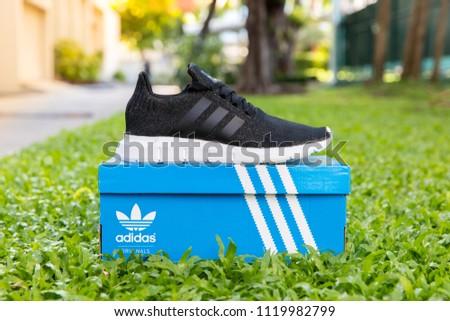 BANGKOK TAILANDIA 2 DE JUNIO 2018 Adidas de TAILANDIA 2018 Imágenes de archivo libres de regalías a9611da - allpoints.host
