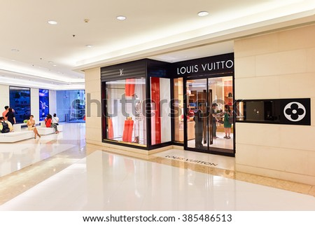 BANGKOK, THAILAND - JUNE 21, 2015: shopping center interior. Shopping centers such as Siam Paragon, Central World Plaza, Emperium, Gaysorn and Central Chidlom become shopping Mecca for shopaholics