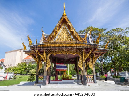 BANGKOK, THAILAND - JUNE 15, 2016: The Bangkok National Museum is the main branch museum of the National Museums in Thailand and also the largest museum in Southeast Asia.
