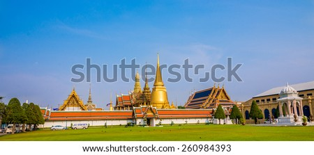 Bangkok, Thailand - Mar 13 , 2015: The Grand Palace, the most famous of Thailand landmark.