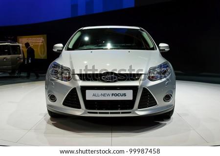BANGKOK, THAILAND- MARCH 28: Ford  on display at The 33th Bangkok International Motorshow 2012 at Impact on March 28, 2012 in Bangkok,Thailand - stock photo