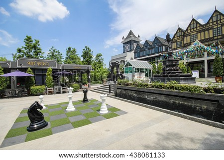 Bangkok, Thailand. - May 24, 2014 : A shopping mall in English or Europe style, call name Pickadaily Bangkok shopping mall and location on Onnuch, Bangkok, Thailand.