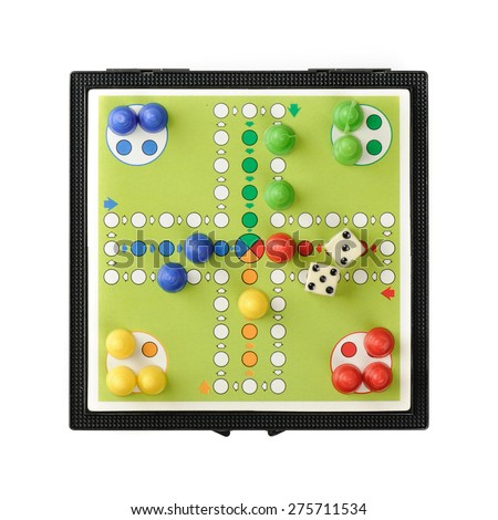 BANGKOK, THAILAND - MAY 06, 2015: Classic board game, Parcheesi or Pachisi or Ludo. - stock photo