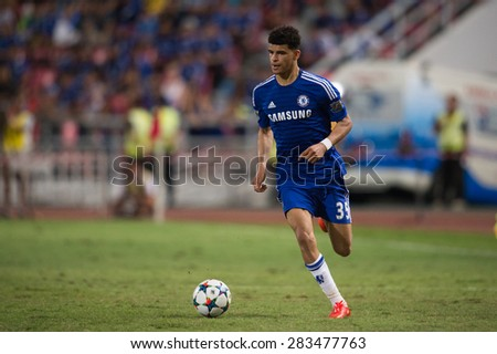 BANGKOK THAILAND MAY 30:	Dominic Solanke of Chelsea in action during the Singha Chelsea fc. Celebration match Thailand All-Stars and Chelsea FC Rajamangala Stadium on May 30,2015 in Thailand.