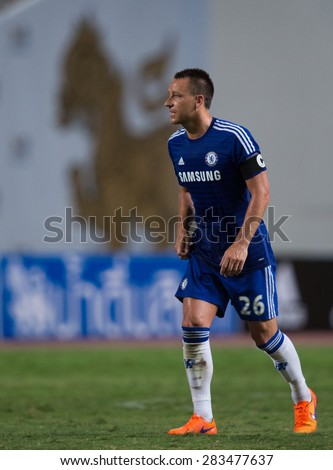 BANGKOK THAILAND MAY 30:John Terry of Chelsea in action during the Singha Chelsea fc. Celebration match Thailand All-Stars and Chelsea FC Rajamangala Stadium on May 30,2015 in Thailand.