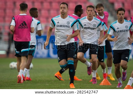 BANGKOK THAILAND MAY 29,Manager John Terry of Chelsea FC  in action during a Chelsea FC training session at  Rajamangala Stadium on May 29,2015 in Bangkok Thailand