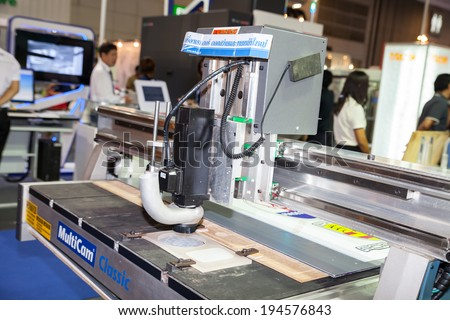 BANGKOK ,THAILAND - MAY 18: Milling Machine in ASEAN's Leading Industrial Machinery and Subcontracting  Exhibition 2014,on May 18, 2014 in Bangkok, Thailand.