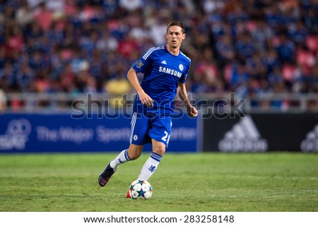 BANGKOK THAILAND MAY 30:Nemanja Matic of Chelsea in action during the Singha Chelsea fc. Celebration match Thailand All-Stars and Chelsea FC at Rajamangala Stadium on May 30,2015 in Thailand. - stock photo